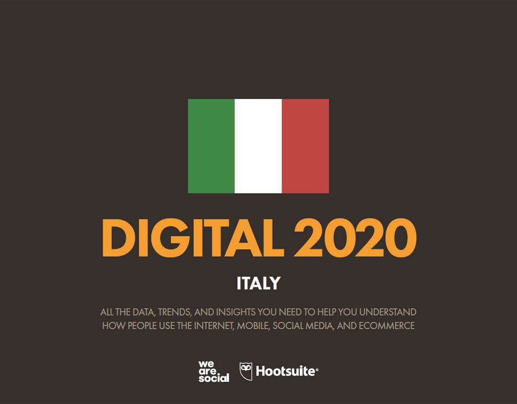 Digital Report Italia 2020, crescono i Social