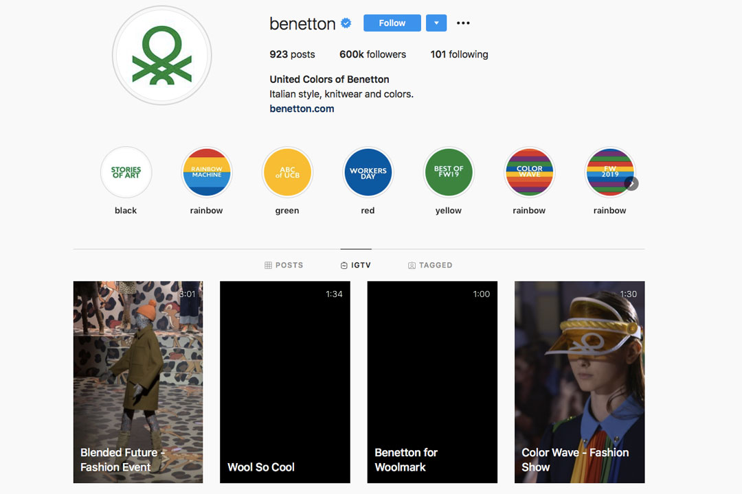 Instagram United Colors of Benetton