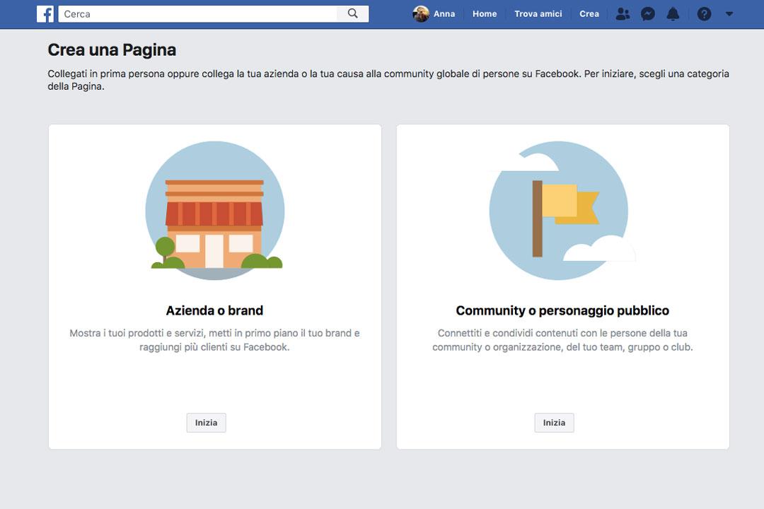 Le Pagine Facebook