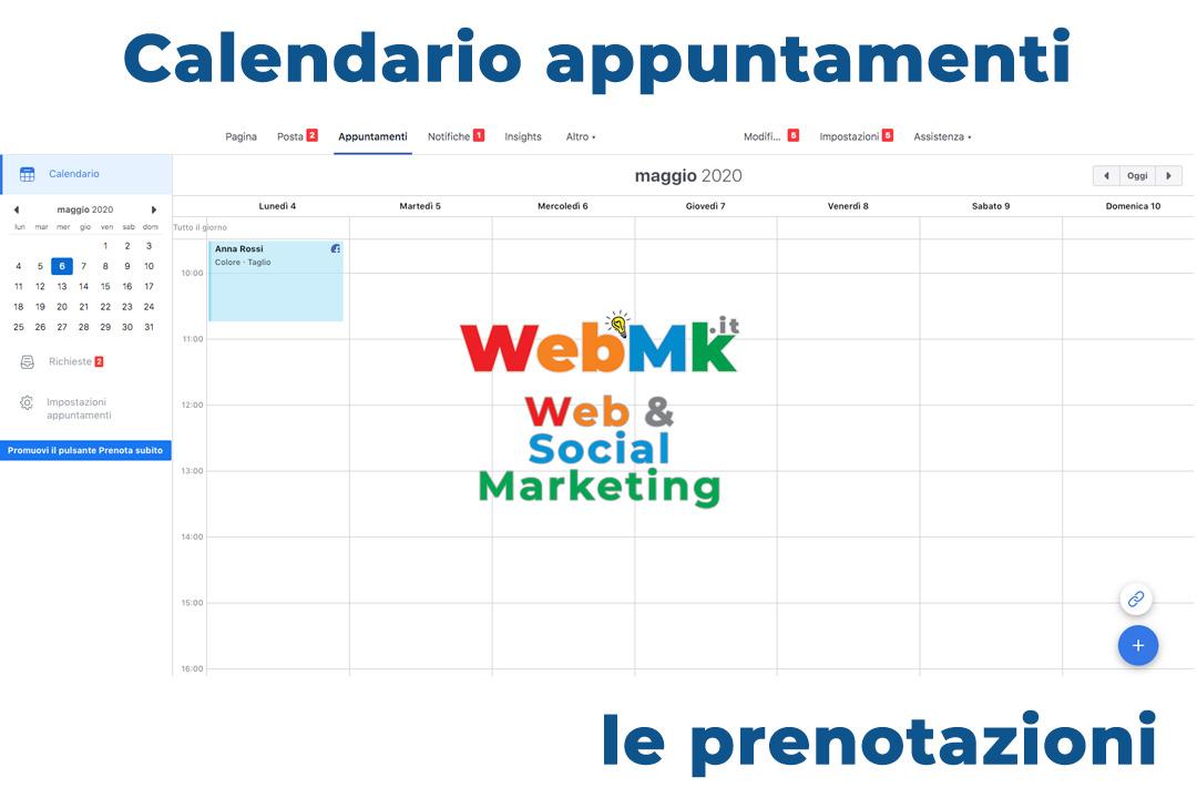 Appuntamenti Facebook, il calendario per l'azienda