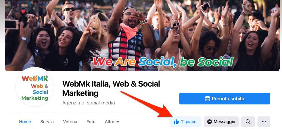 Seguiteci sulla nostra pagina Facebook @webmkitalia