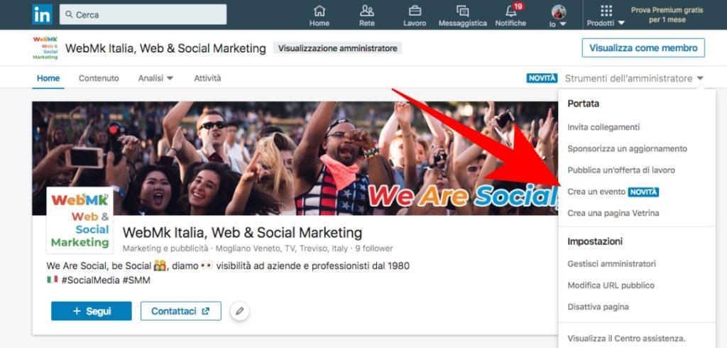 Eventi LinkedIn