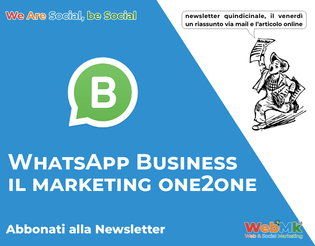 WhatsApp Business il marketing one2one