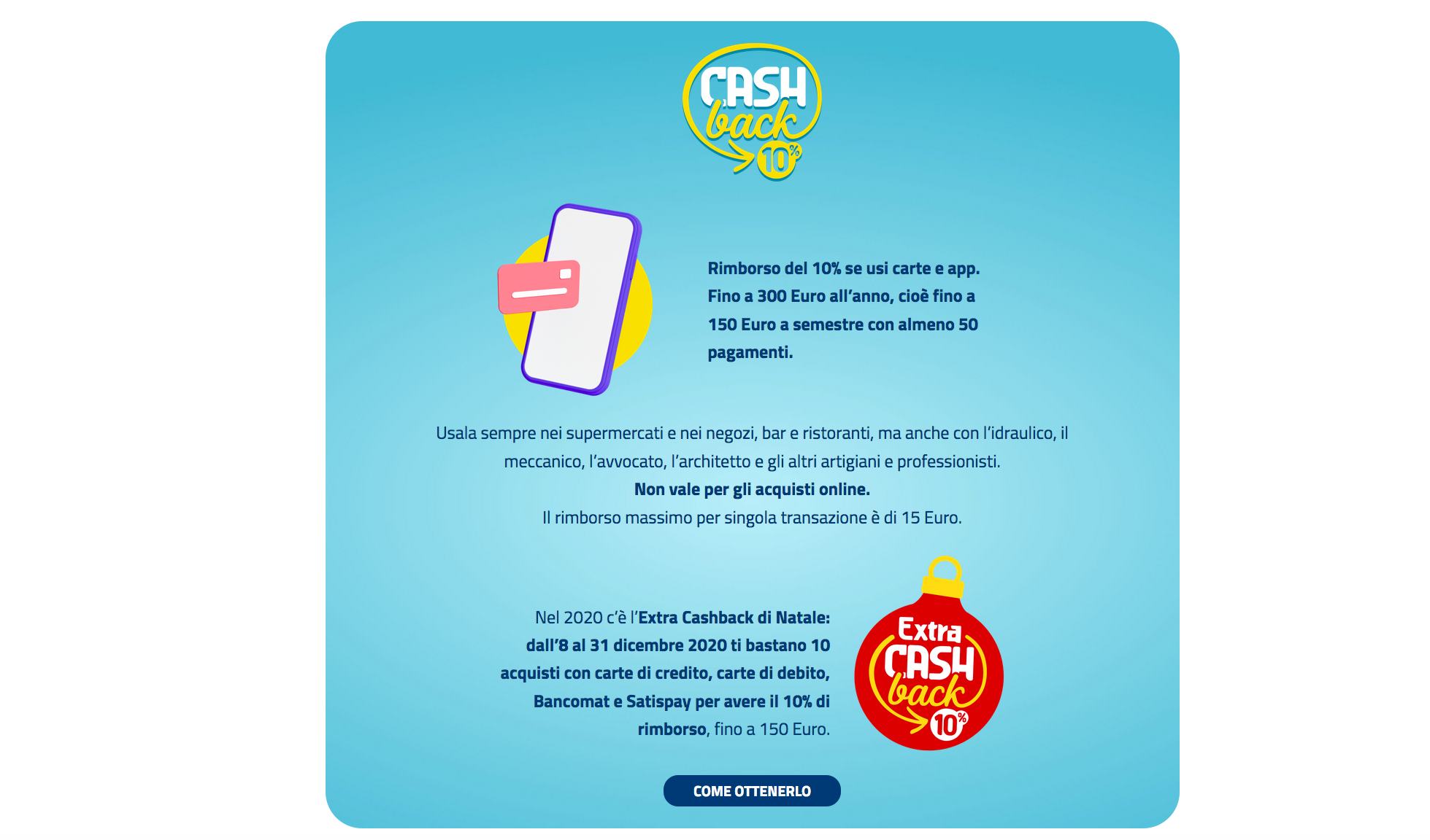 Extra Cashback di Natale