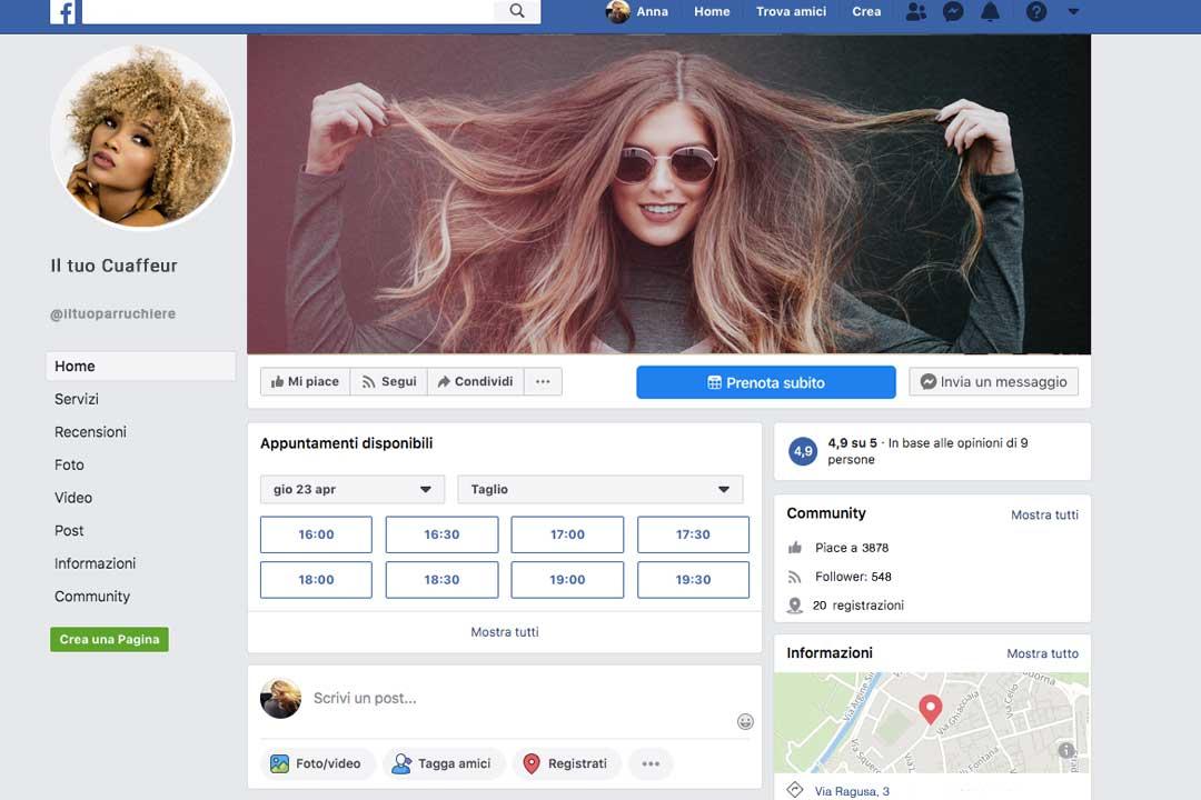 Appuntamenti facebook
